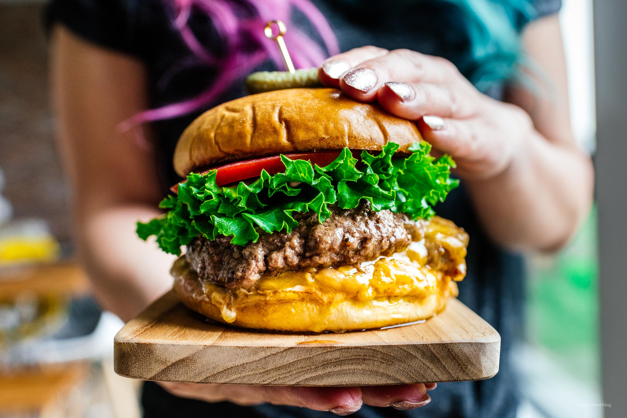 The Juicy Lucy Burger I Am A Food Blog