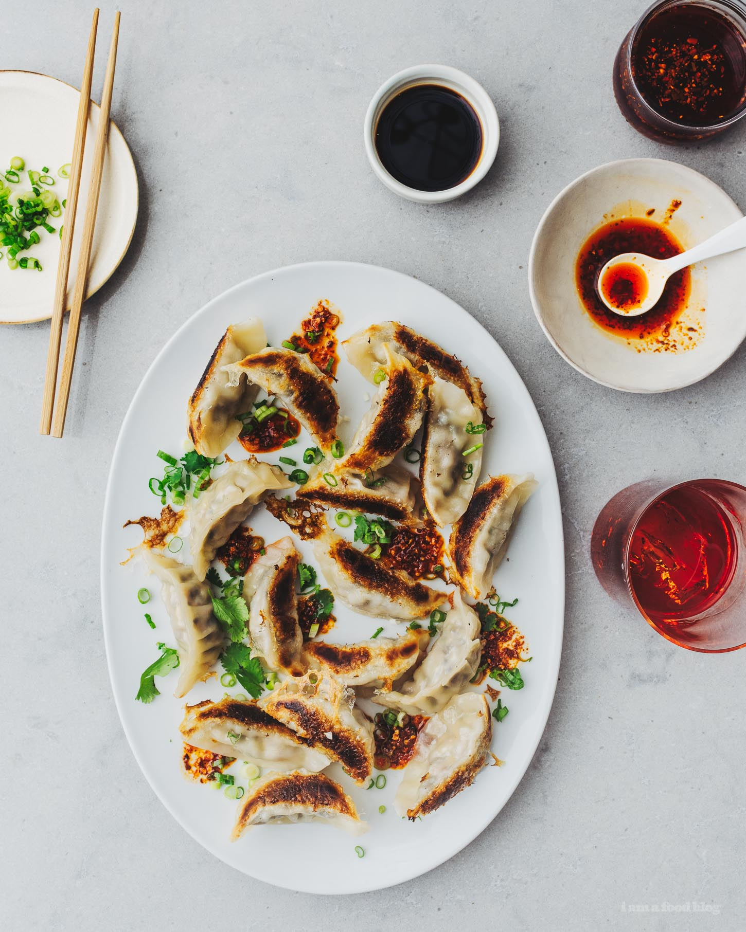 Homemade Pork and Garlic Chinese Potsticker Dumpling Recipe | www.iamafoodblog.com