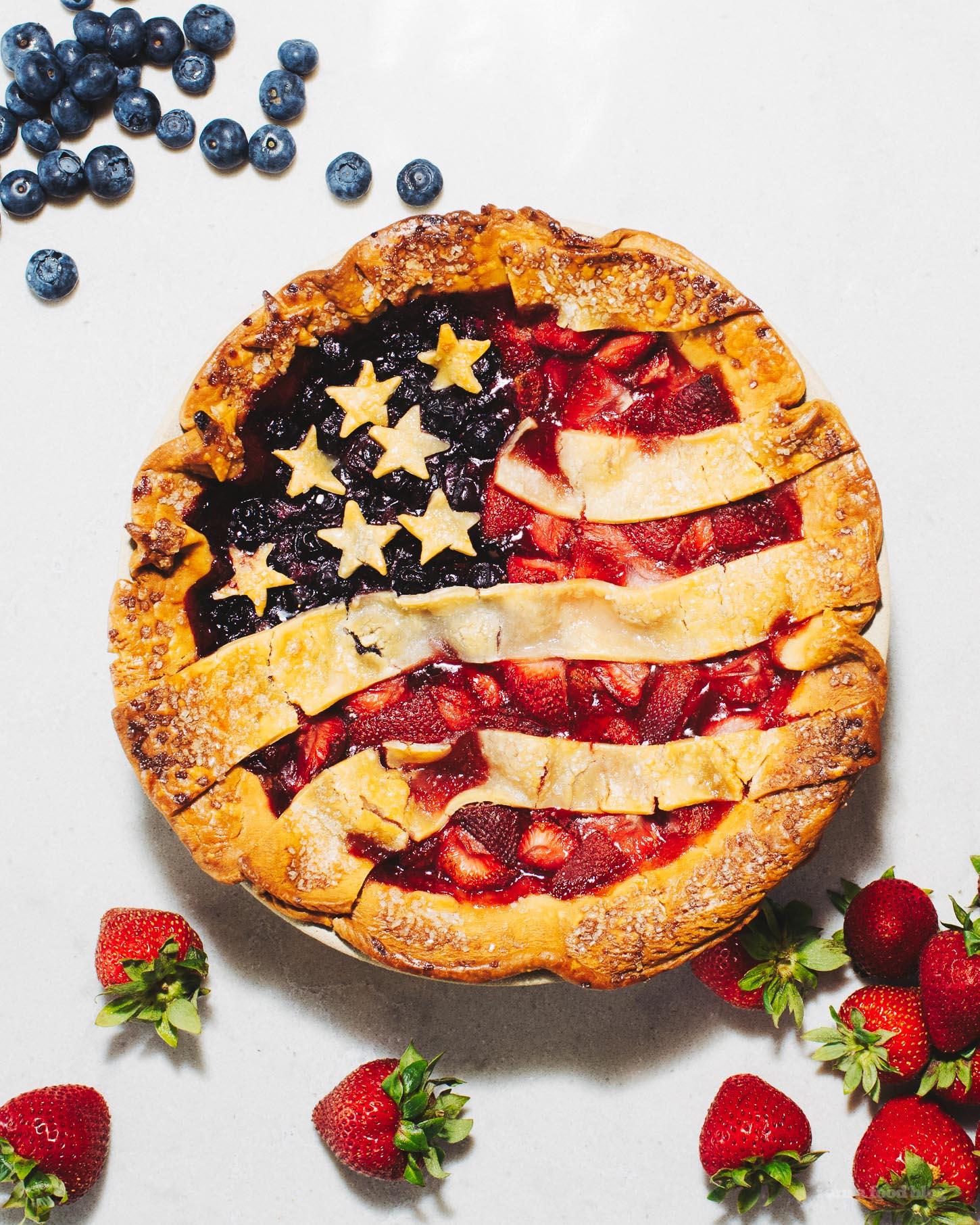 American Flag Pie Recipe | www.iamafoodblog.com