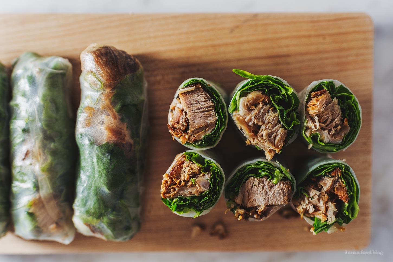 Chashu Summer Rolls Recipe | www.iamafoodblog.com