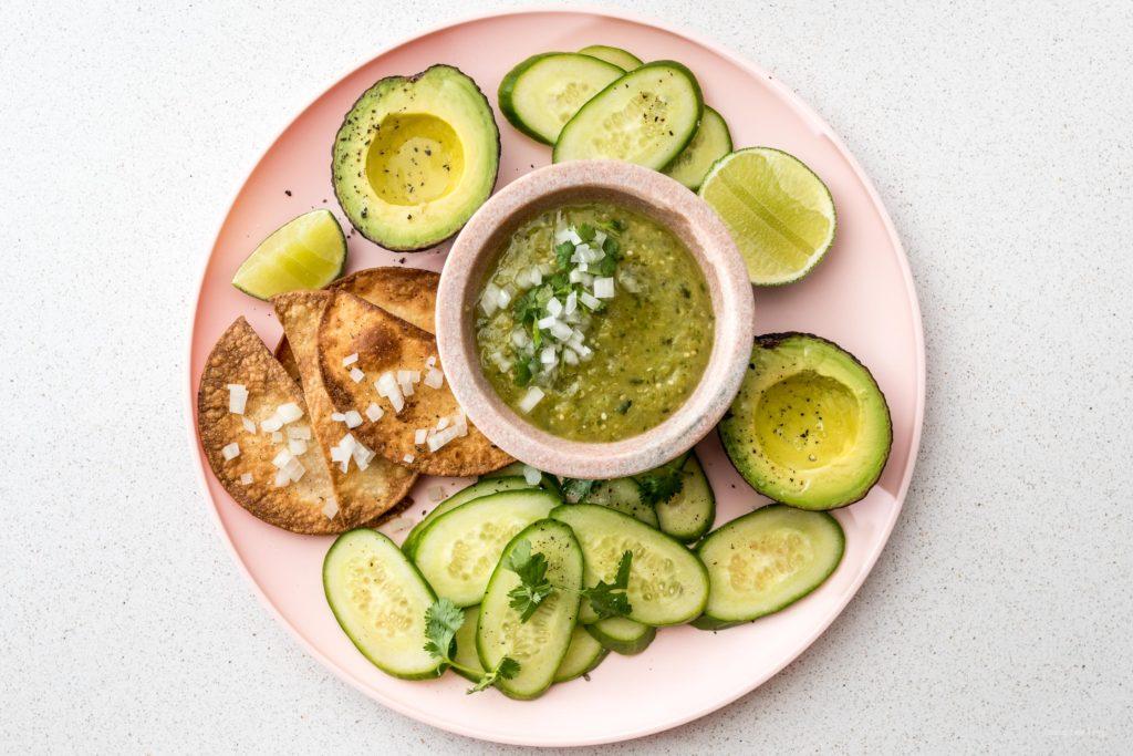 Easy 4 Ingredient Hatch Chile Salsa Verde | www.iamafoodblog.com