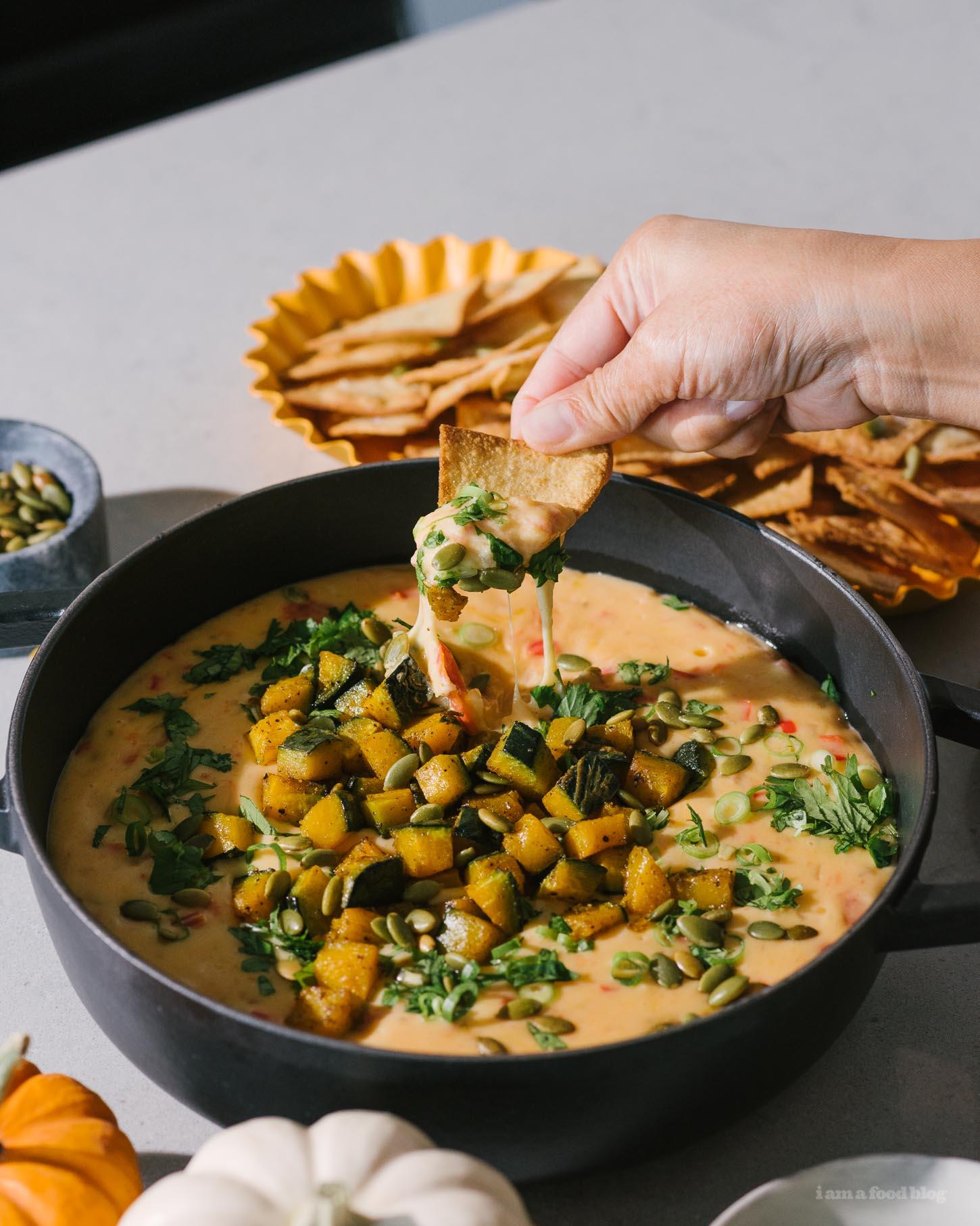 Pumpkin Queso Recipe | www.iamafoodblog.com