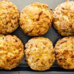 smoked salmon chive biscuits