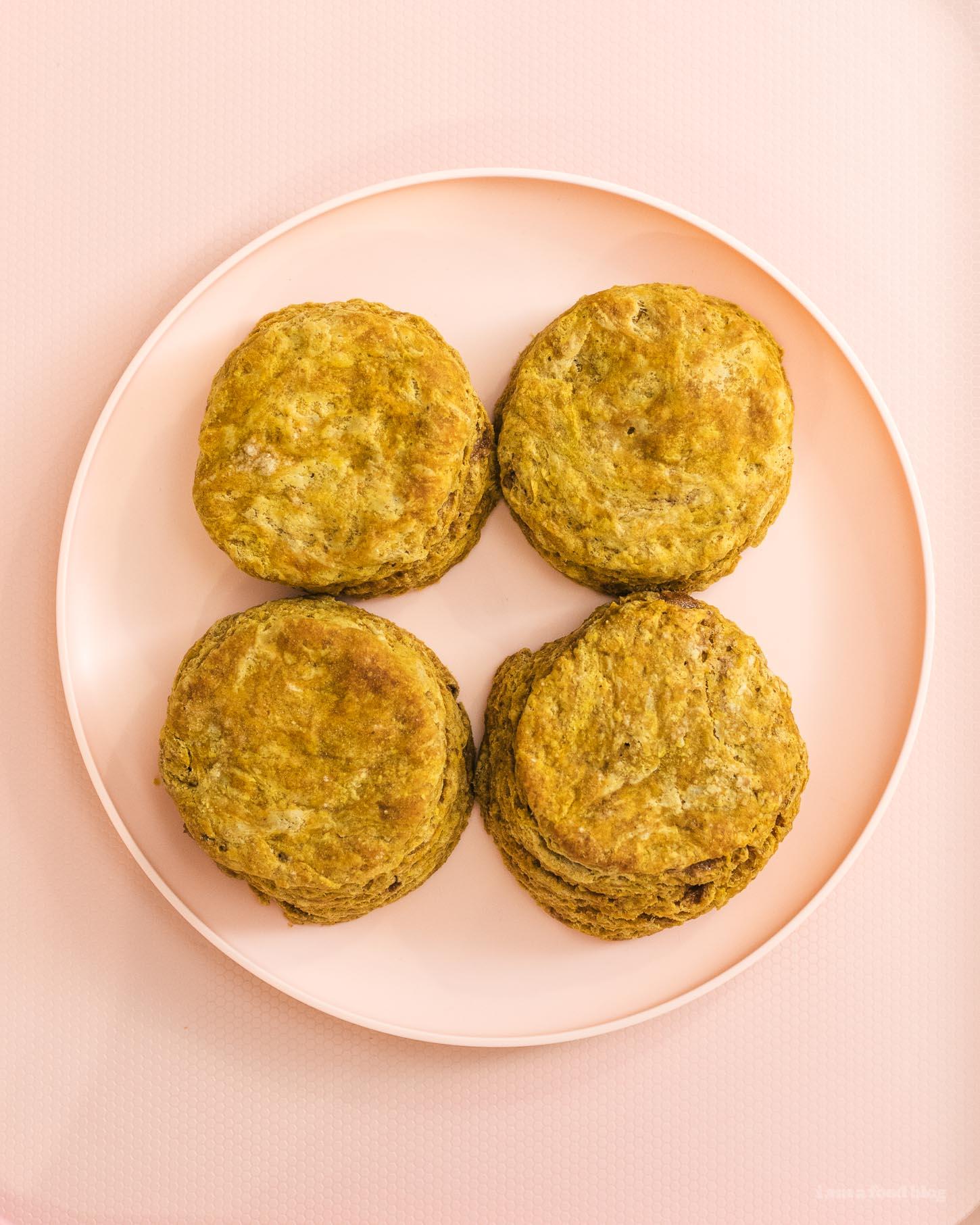 Totoro Pumpkin Scone Recipe | www.iamafoodblog.com