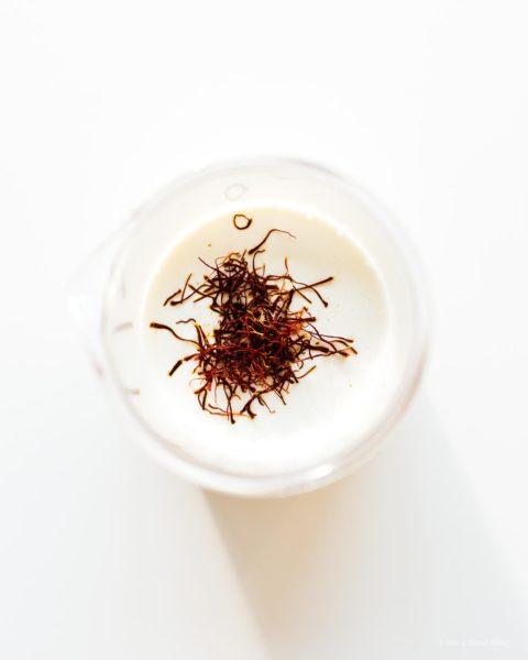 saffron cream for chicken biryani | www.iamafoodblog.com