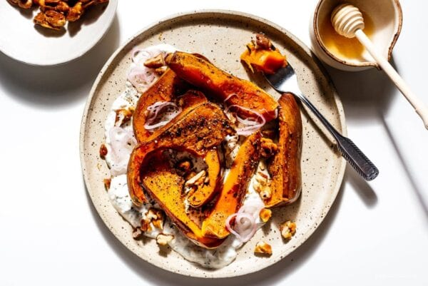 roasted honeynut squash with yogurt | www.iamafoodblog.com