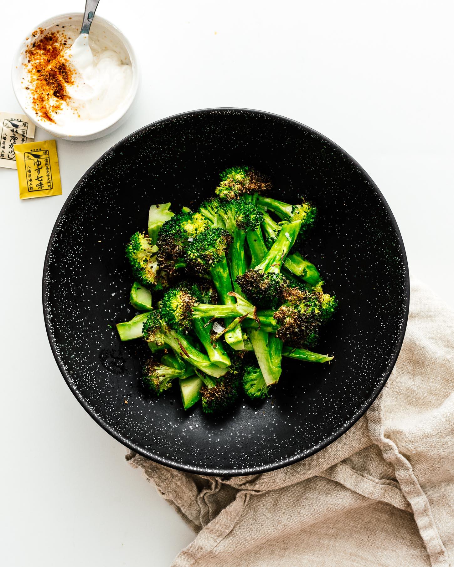 How to Make Crispy Air-Fryer Roasted Broccoli | www.iamafoodblog.com