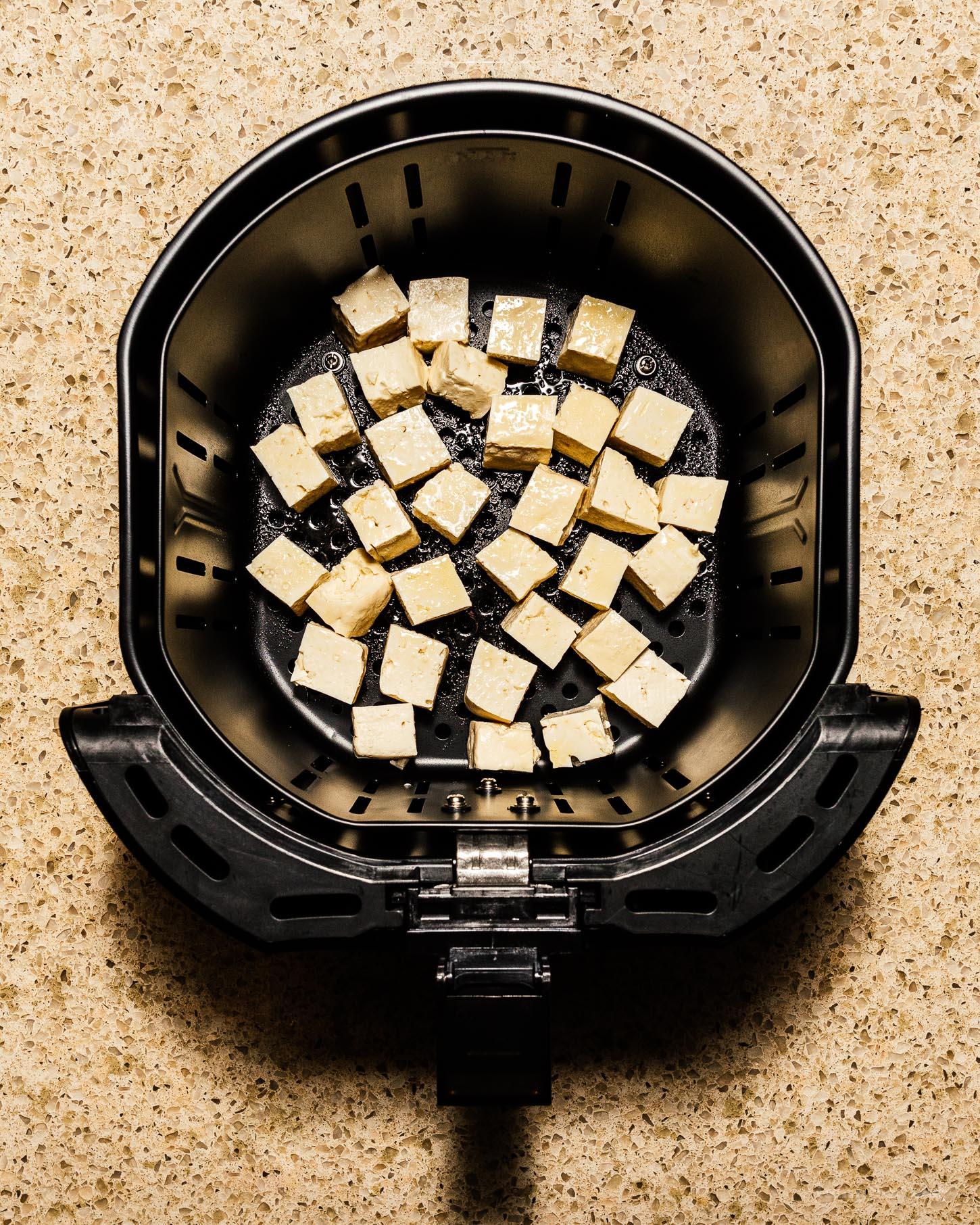 How to Make Crispy Air Fryer Tofu for Stir-Fries, Salads and Bowls | www.iamafoodblog.com