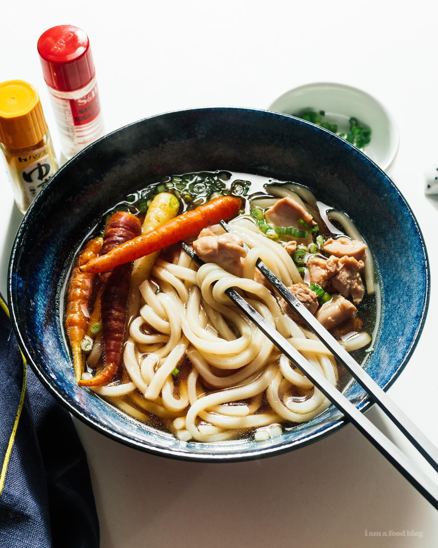 Easy and Fast Chicken Udon Recipe | www.iamafoodblog.com