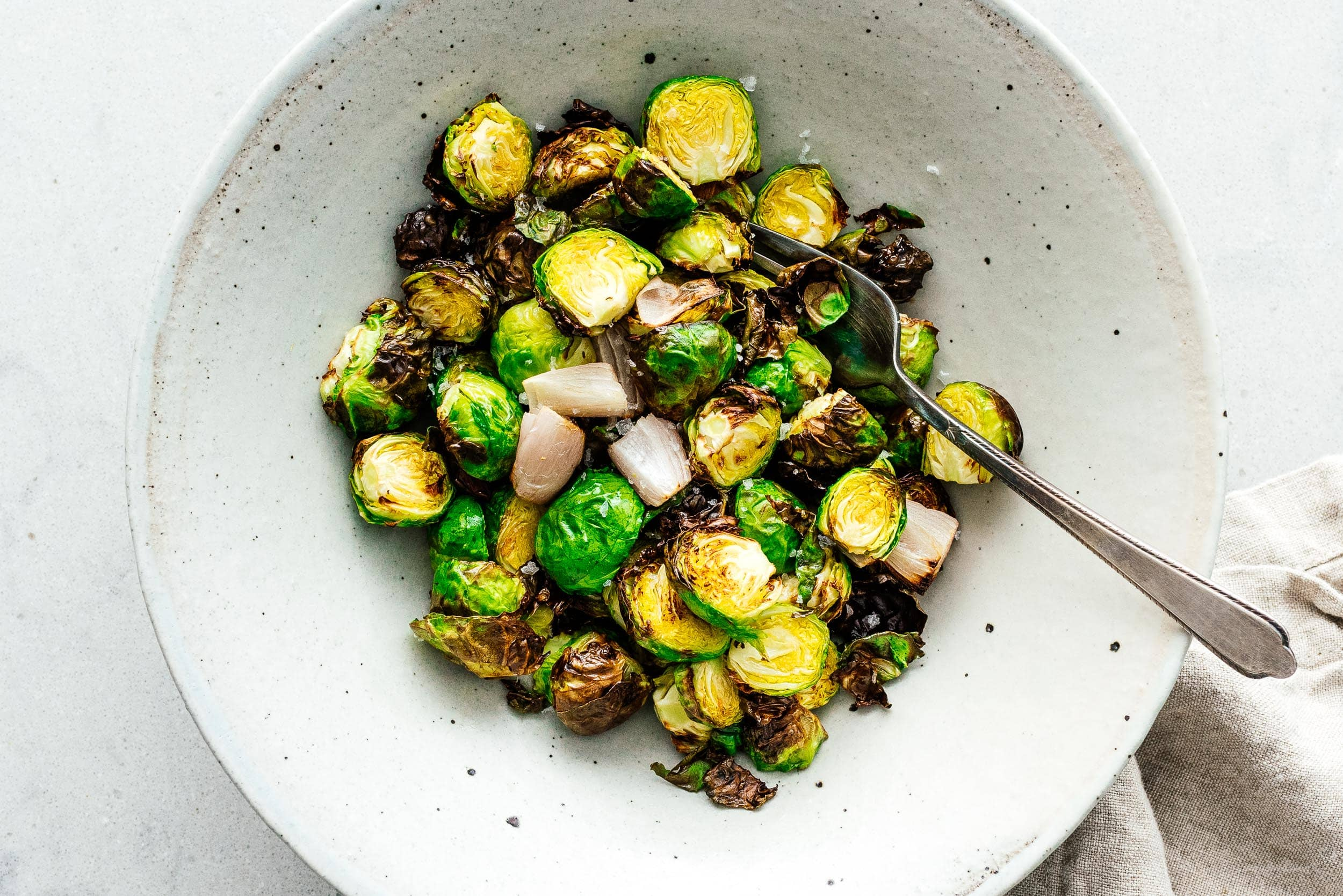 Crispy Roasted Brussels Sprouts | www.iamafoodblog.com