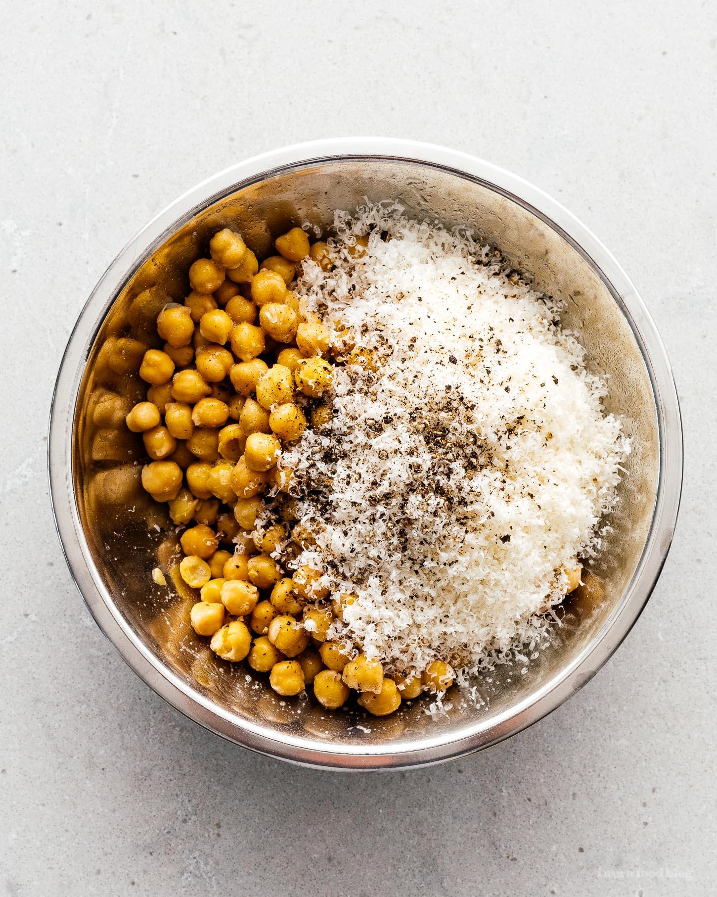crispy cacio e pepe chickpeas | i am a food blog