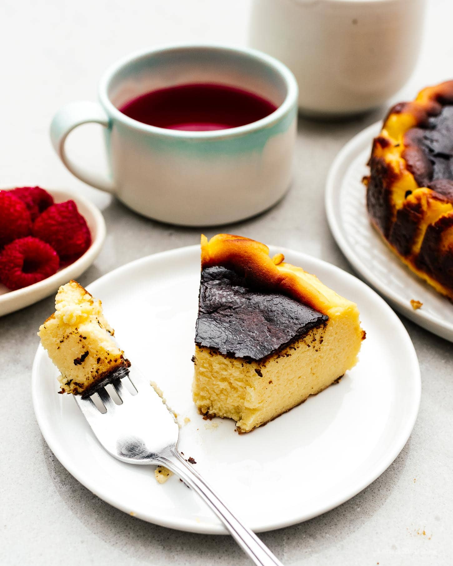 The Easiest Cheesecake You'll Ever Make: 5 Ingredient Burnt Basque Cheesecake Recipe   www.iamafoodblog.com