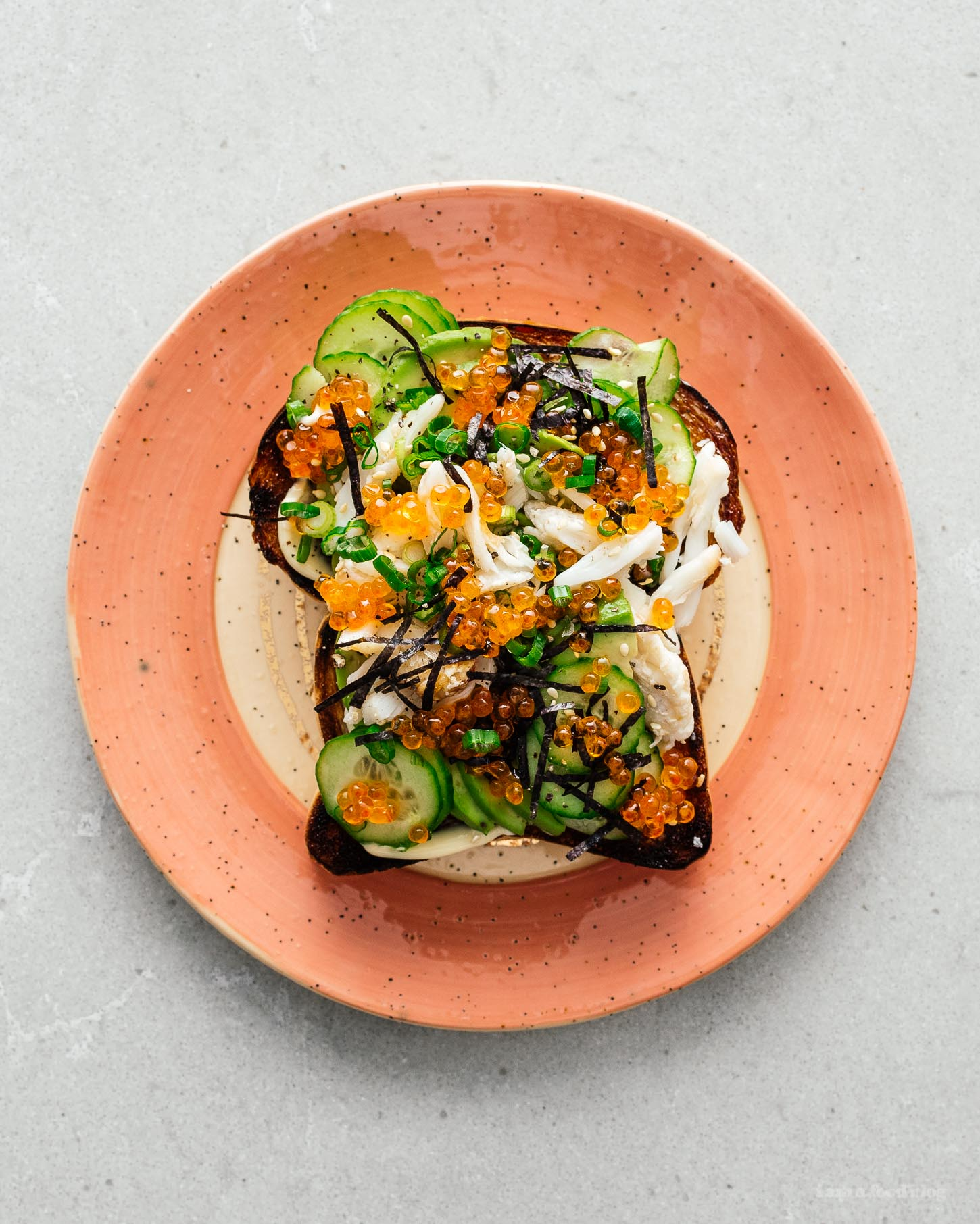 California Roll Avocado Toast | www.iamafoodblog.com