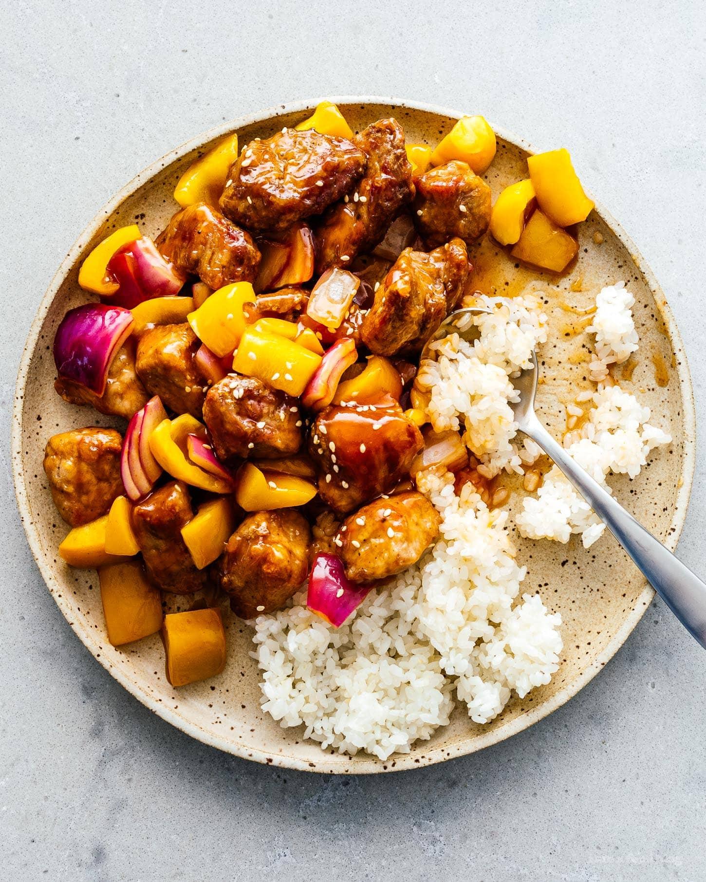 Sweet and Sour Pork Recipe | www.iamafoodblog.com