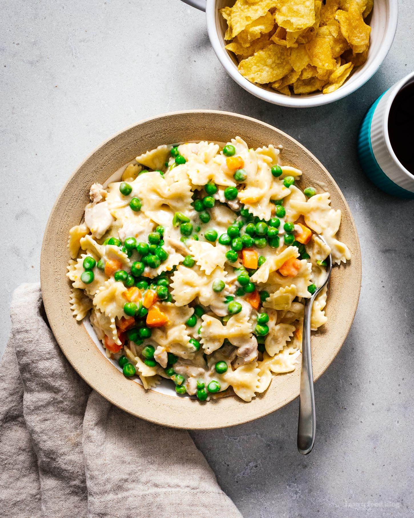 Instant Pot Creamy Chicken Pasta | www.iamafoodblog.com