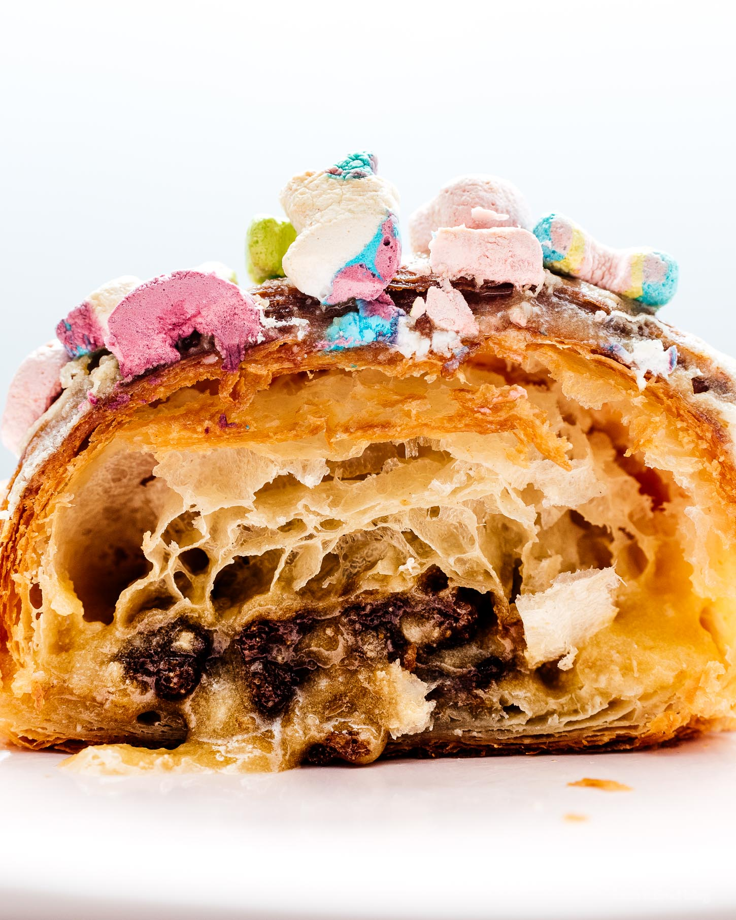 How to Make a Twice Baked Lucky Charms Almond Croissant | www.iamafoodblog.com