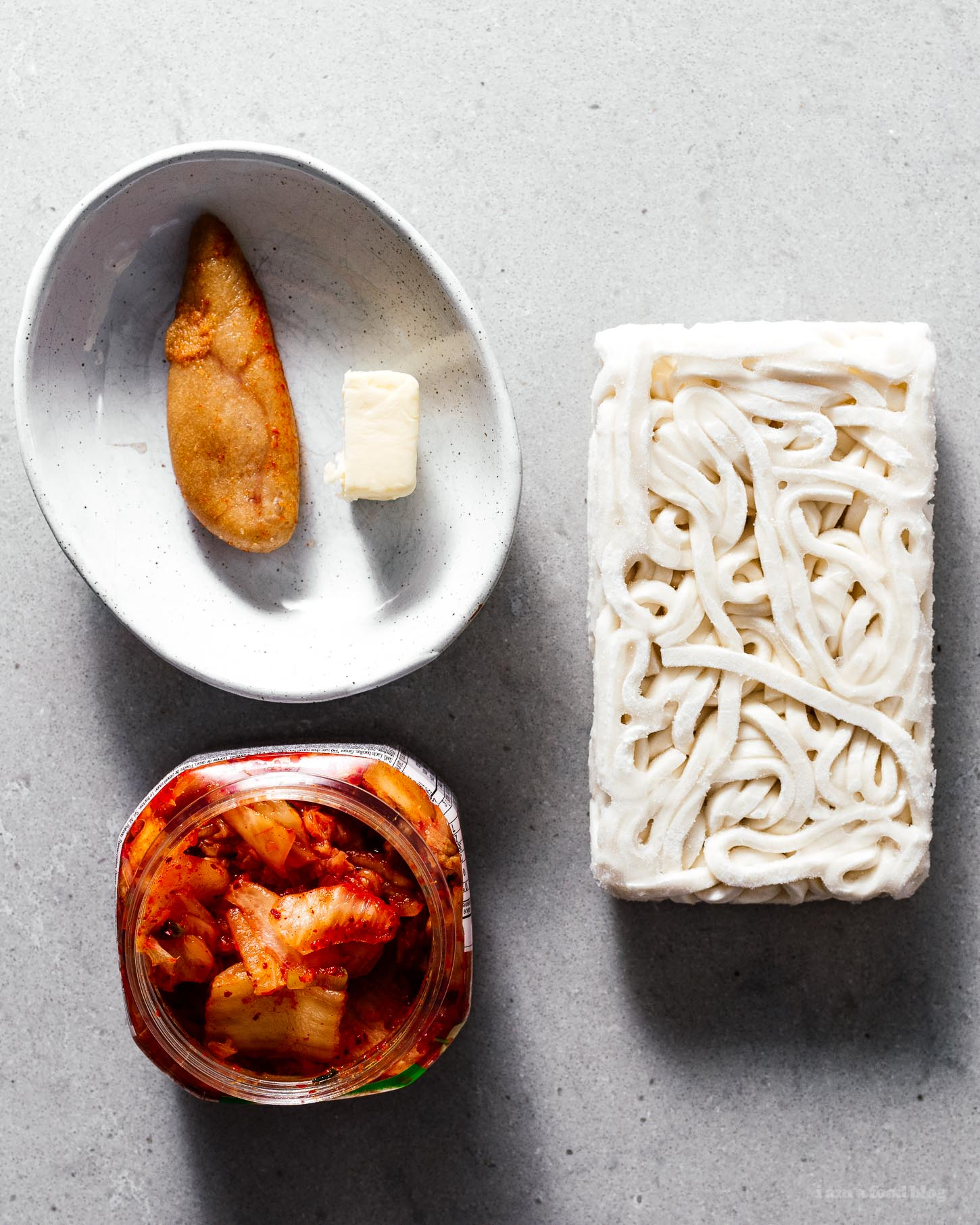 Spicy, Savory, and Completely Addictive Mentaiko Kimchi Udon Recipe | www.iamafoodblog.com