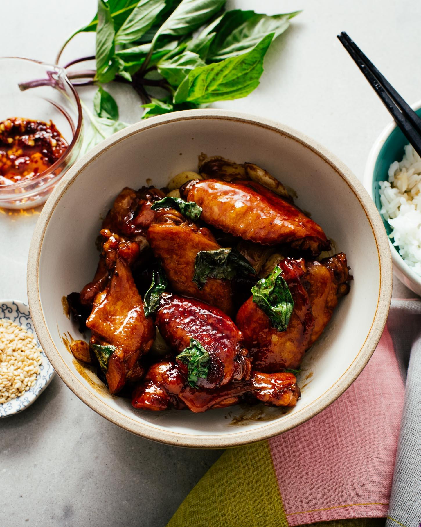 San Bei Ji: 15 Minute Easy Taiwanese 3 Cup Chicken Recipe | www.iamafoodblog.com