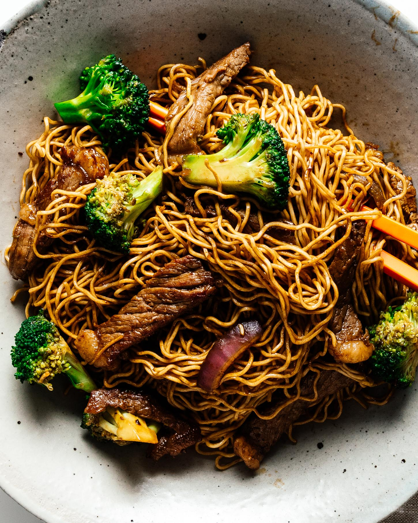 Easy Beef and Broccoli Chow Mein Recipe | www.iamafoodblog.com