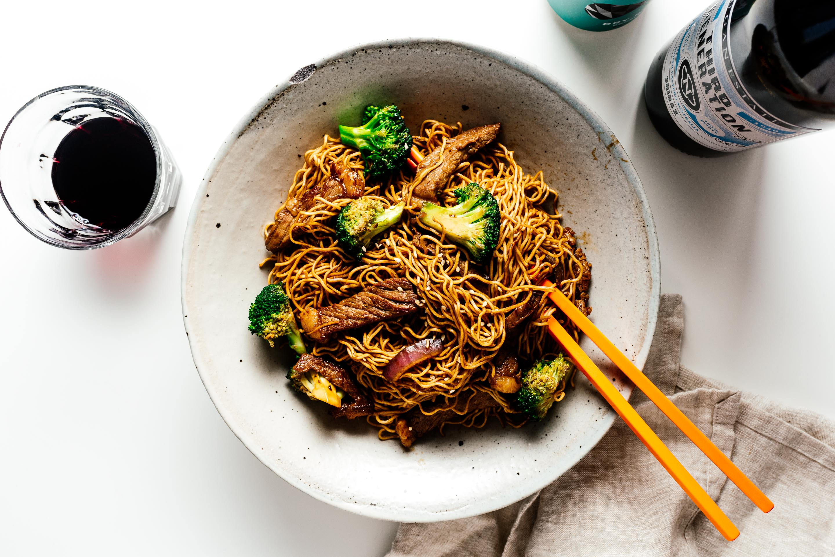 Beef and Broccoli Chow Mein | www.iamafoodblog.com