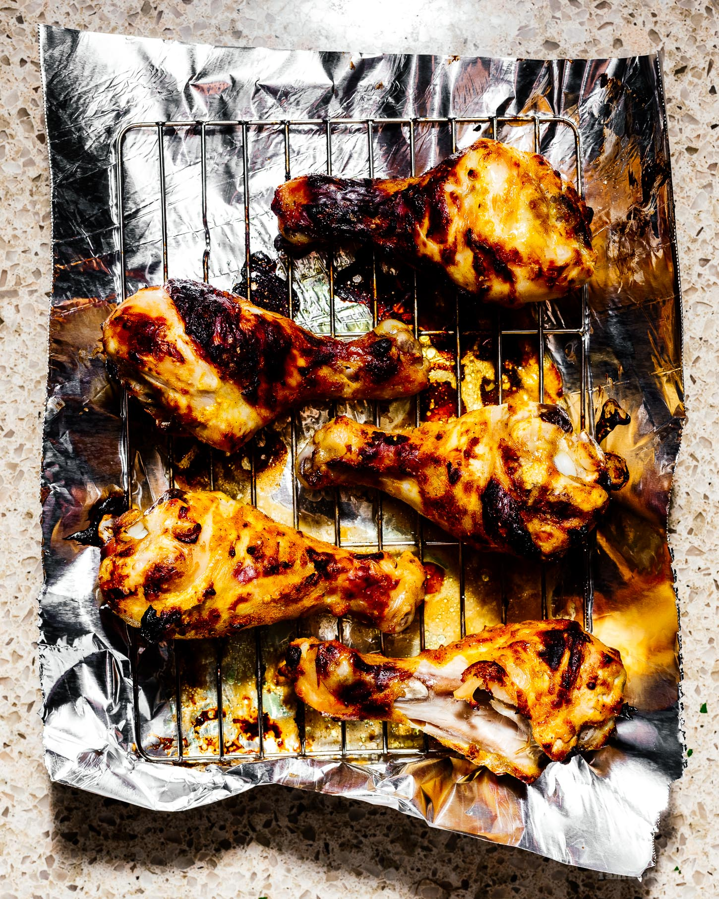 The Easiest 8 Ingredient Oven Broiled Tandoori Chicken Recipe | www.iamafoodblog.com