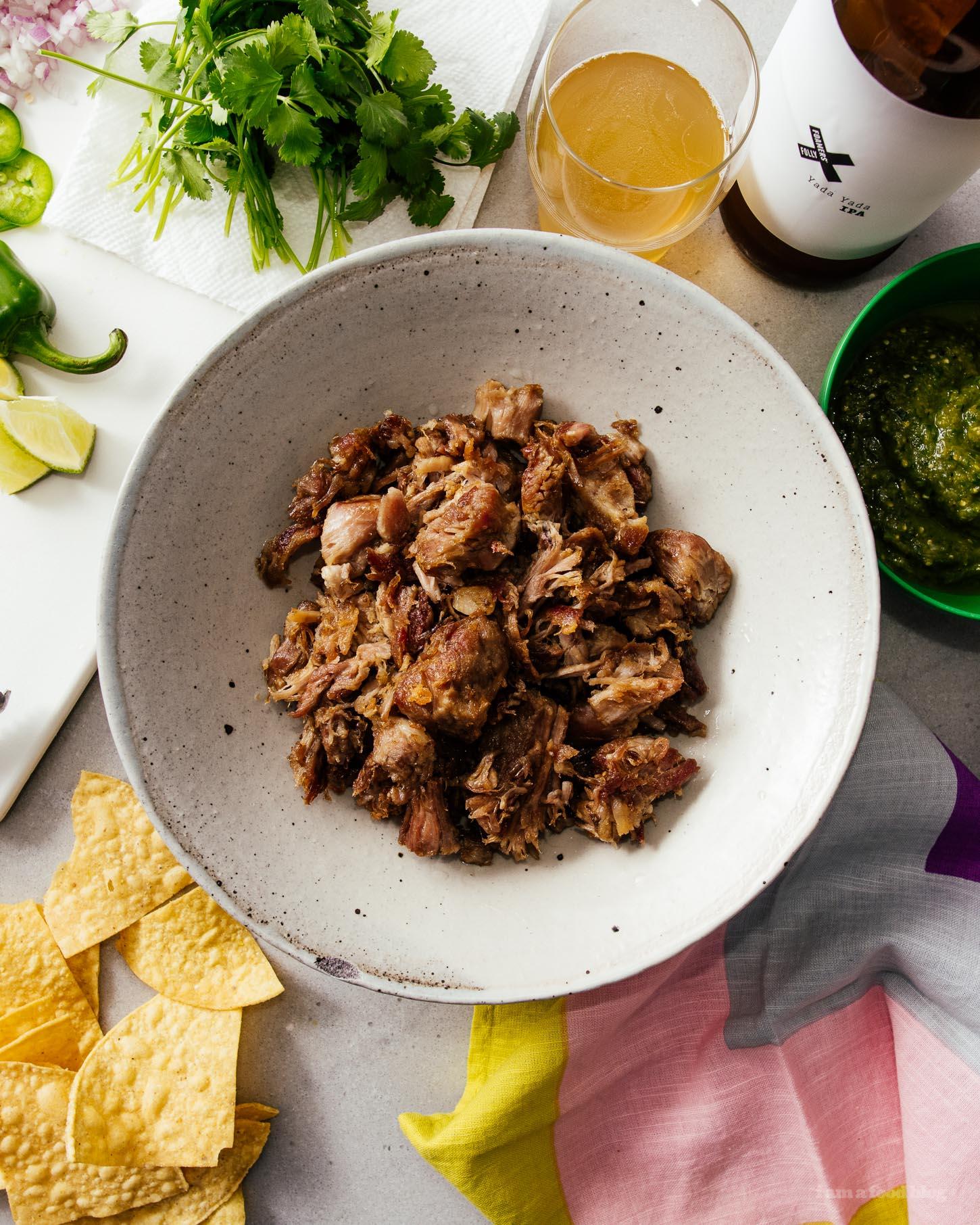 The Ultimate Easy 3 Ingredient Slow Cooker Pork Carnitas | www.iamafoodblog.com