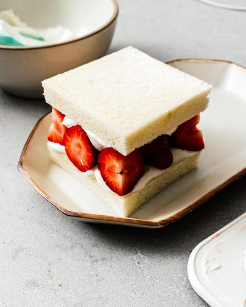 Japanese Fruit Sandwich: Strawberry Sando Recipe | www.iamafoodblog.com