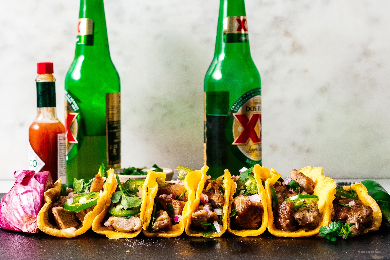 Carnitas with Egg Tortillas | www.iamafoodblog.com
