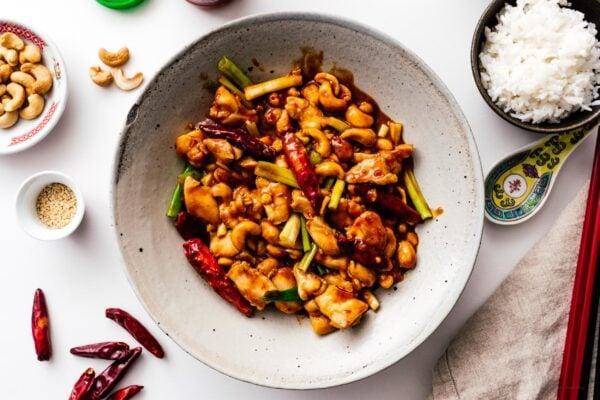 kung pao chicken recipe | www.iamafoodblog.com