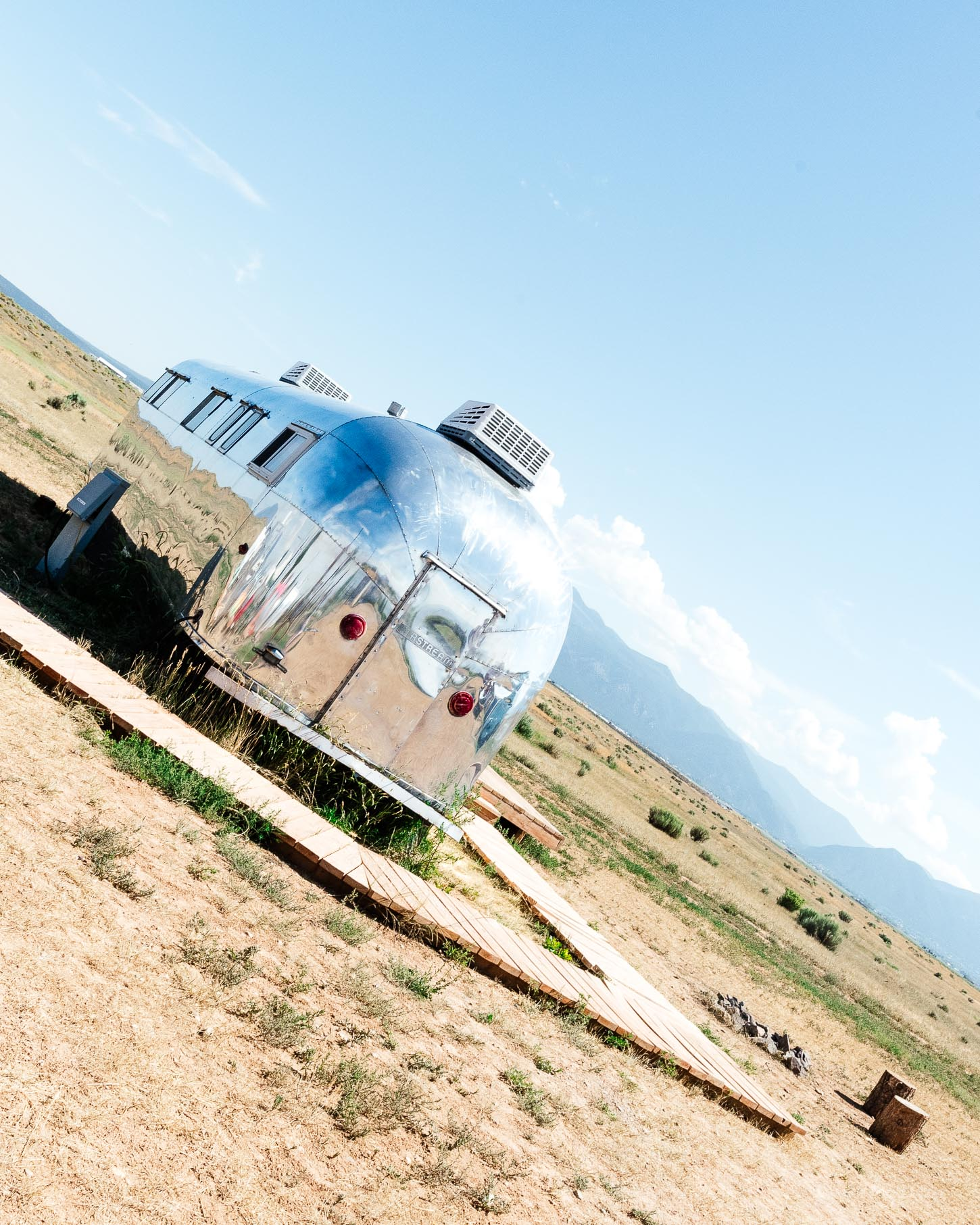 glamping vintage trailer camping in new mexico #travel #glamping #vintage #trailer