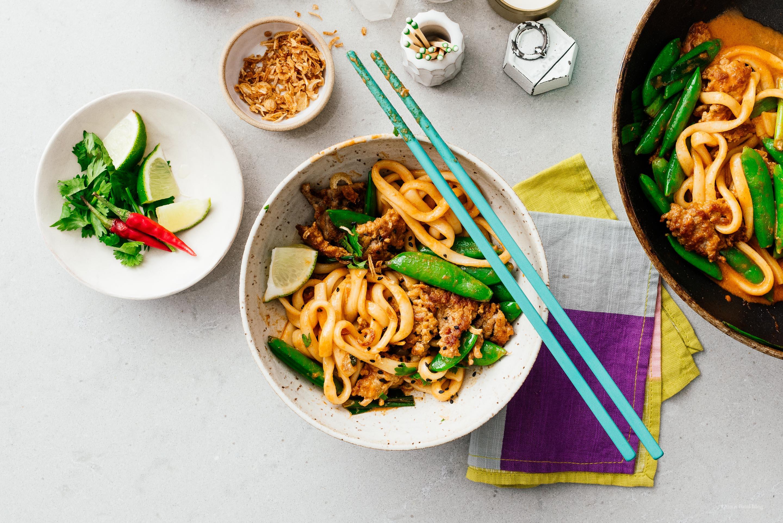 Thai Curry Stir Fry Udon | www.iamafoodblog.com