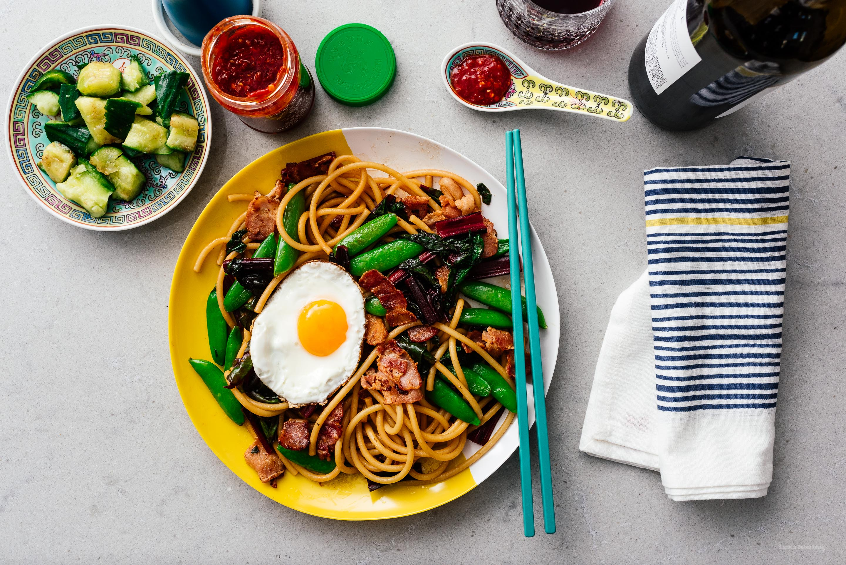 Bacon and Egg Lo Mein | www.iamafoodblog.com