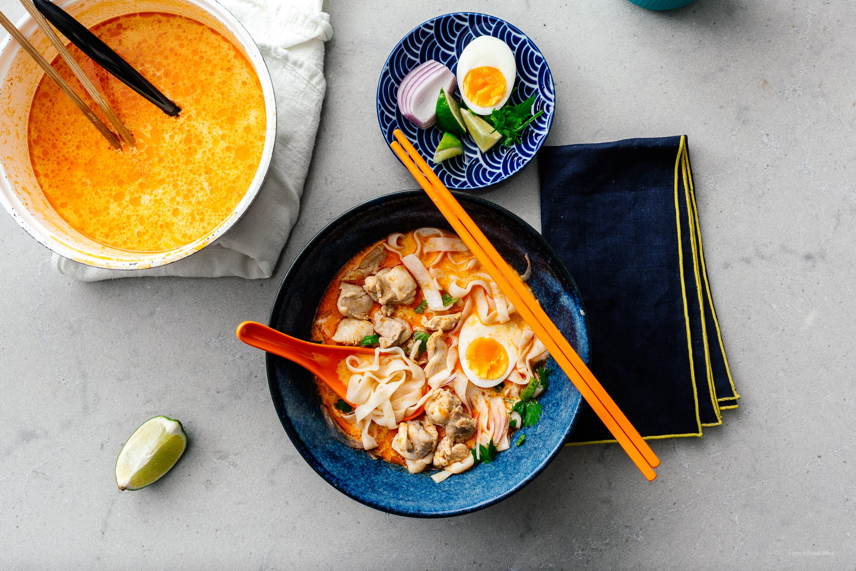 Thai Red Curry Noodle Soup |  www.iamafoodblog.com