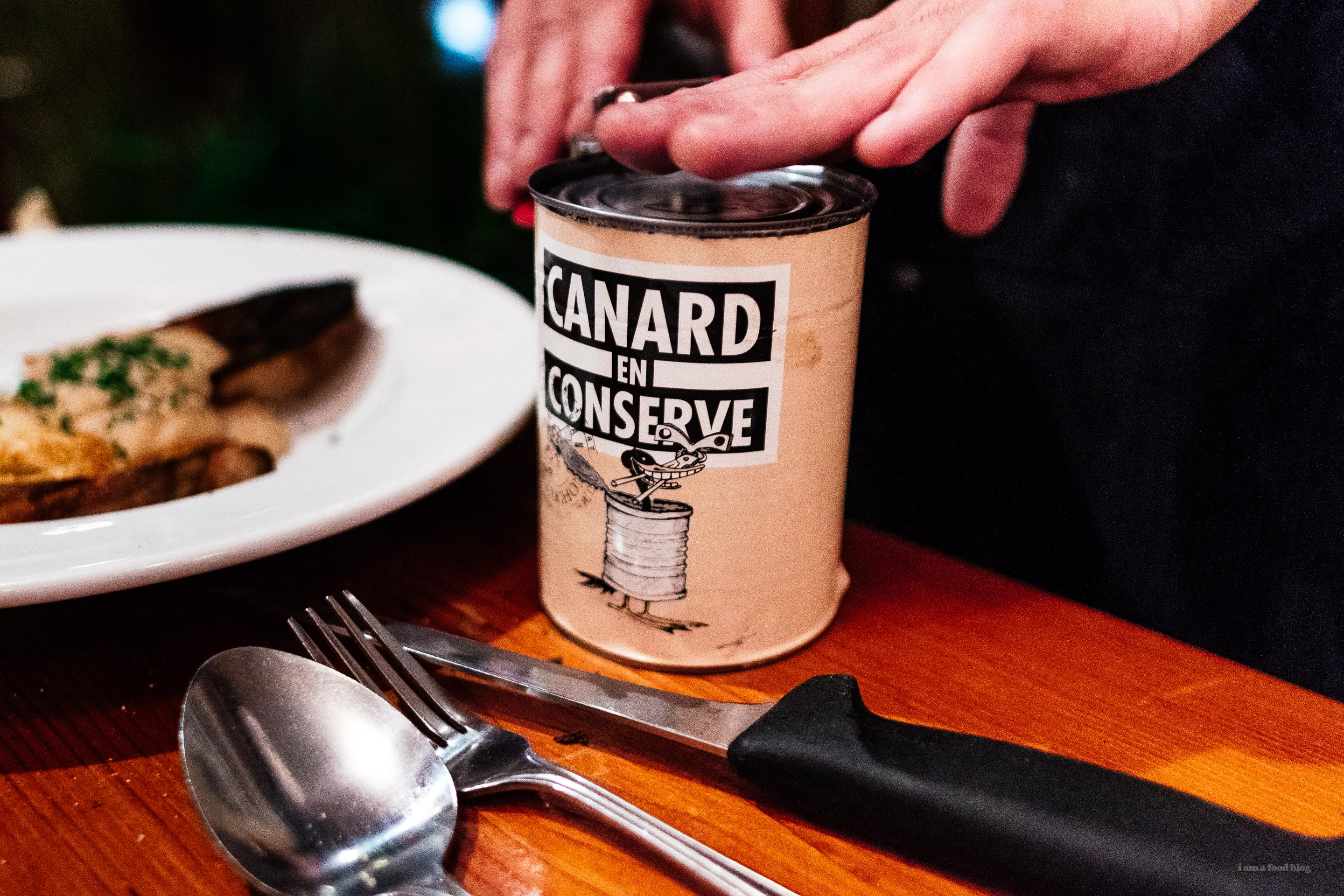 Duck in a Can | what to order at pied de cochon | www.iamafoodblog.com