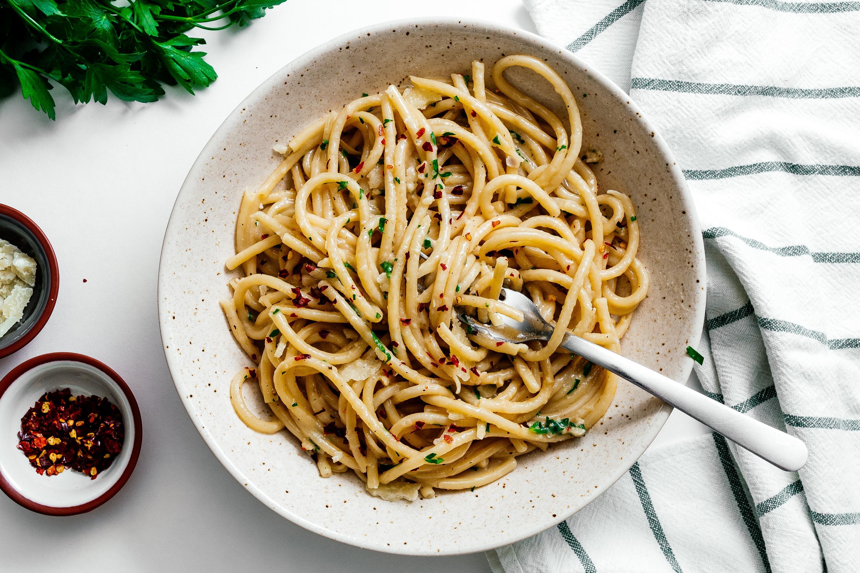 Garlicky Brown Butter Parmesan Noodles | www.iamafoodblog.com
