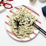 Everything Bagel Pesto Stir Fry Yaki Udon | www.iamafoodblog.com