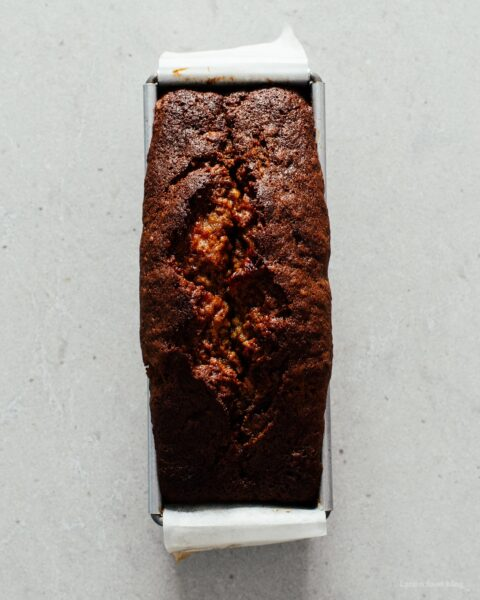 Small Batch Black Bottom Banana Bread | www.iamafoodblog.com