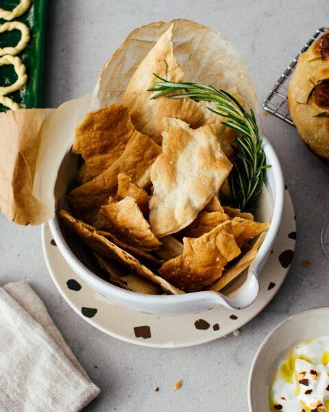 Small Batch Sourdough Crackers