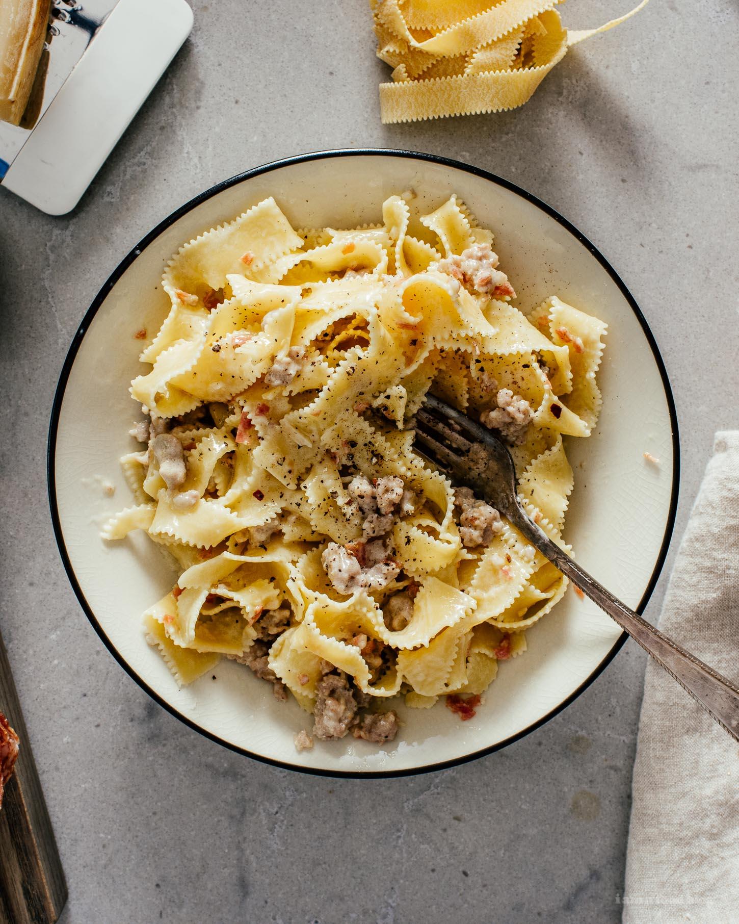 Pasta alla Norcina Recipe   www.iamafoodblog.com