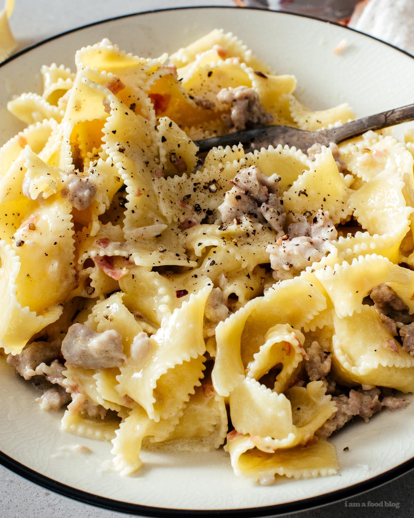 Pasta alla Norcina Recipe | www.iamafoodblog.com