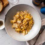Super Creamy Cacio e Pepe Style Pasta | www.iamafoodblog.com