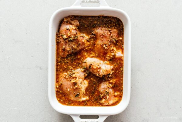 marinating chicken for tacos   www.iamafoodblog.com