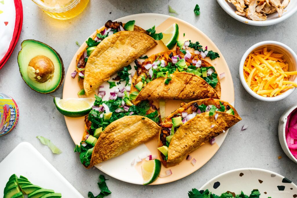 Air Fryer Chicken Tacos | www.iamafoodblog.com