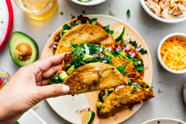 crunchy chicken taco | www.iamafoodblog.com