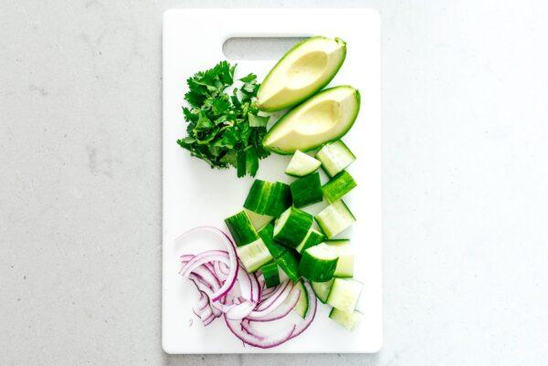 Chinese Cucumber Avocado Salad | www.iamafoodblog.com