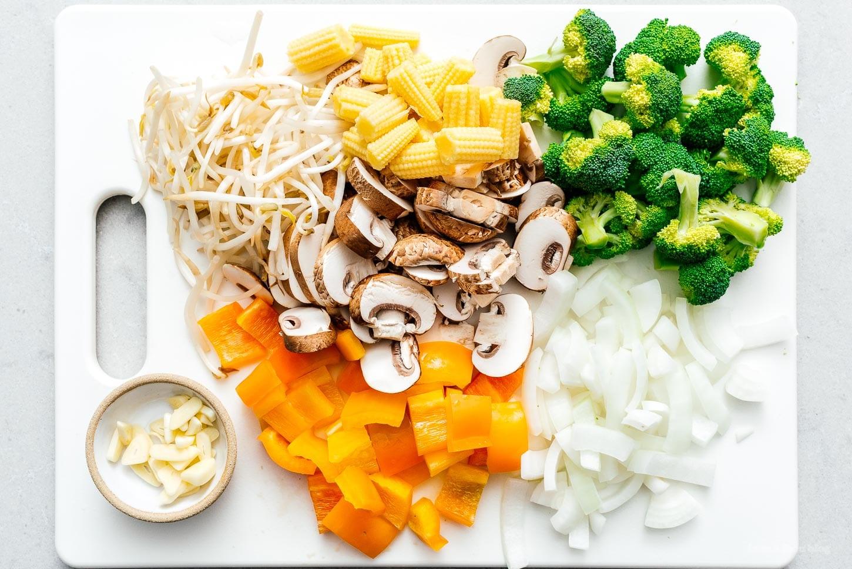 vegetables for chop suey | www.iamafoodblog.com