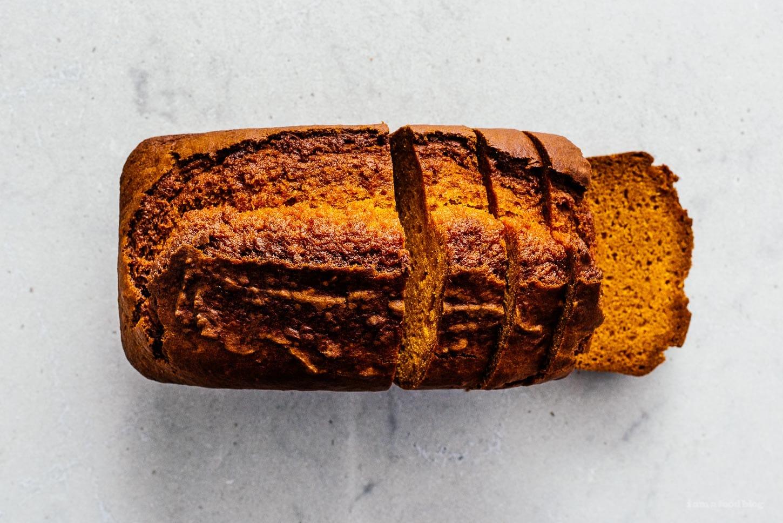 sliced pumpkin bread | www.iamafoodblog.com