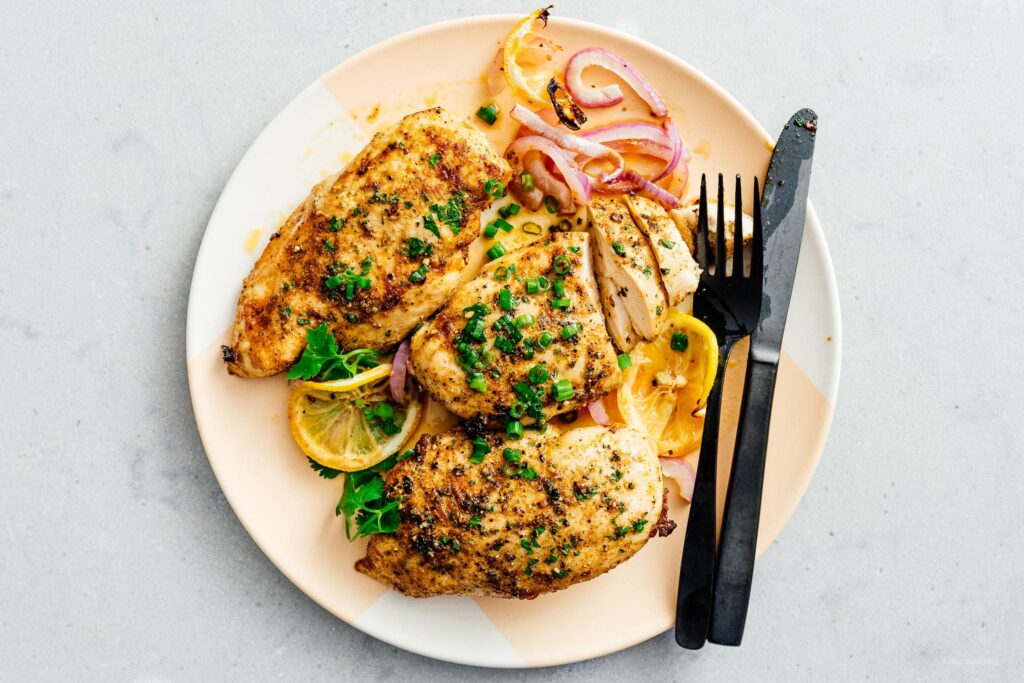 air fryer chicken breast recipe | www.iamafoodblog.com