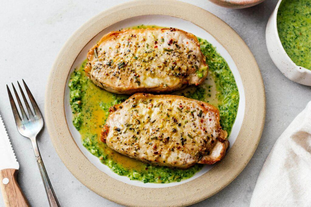 air fryer pork chops recipe | www.iamafoodblog.com