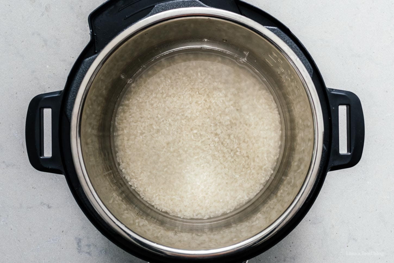 instant pot white rice | www.iamafoodblog.com